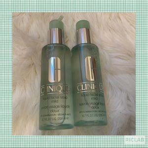 Clinique Liquid Facial Soap Mild -New x2 Full Size